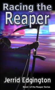 Cover from Racing The Reaper Author Jerrid Edgington